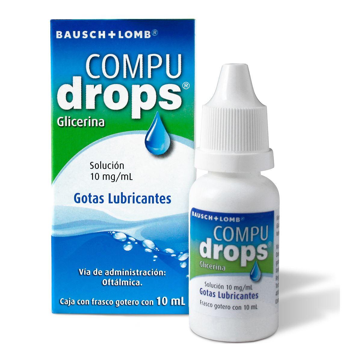 Solución oftálmica compudrops 10mg  - Sanborns