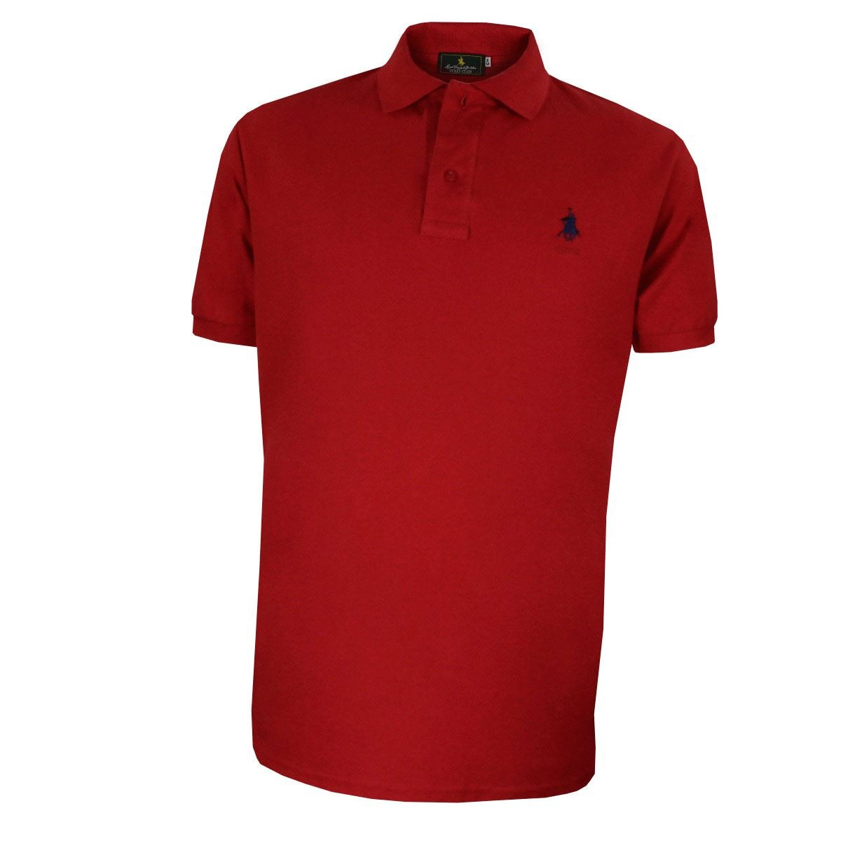Playera Polo Club Mc Pique Algodón Gd Rojo