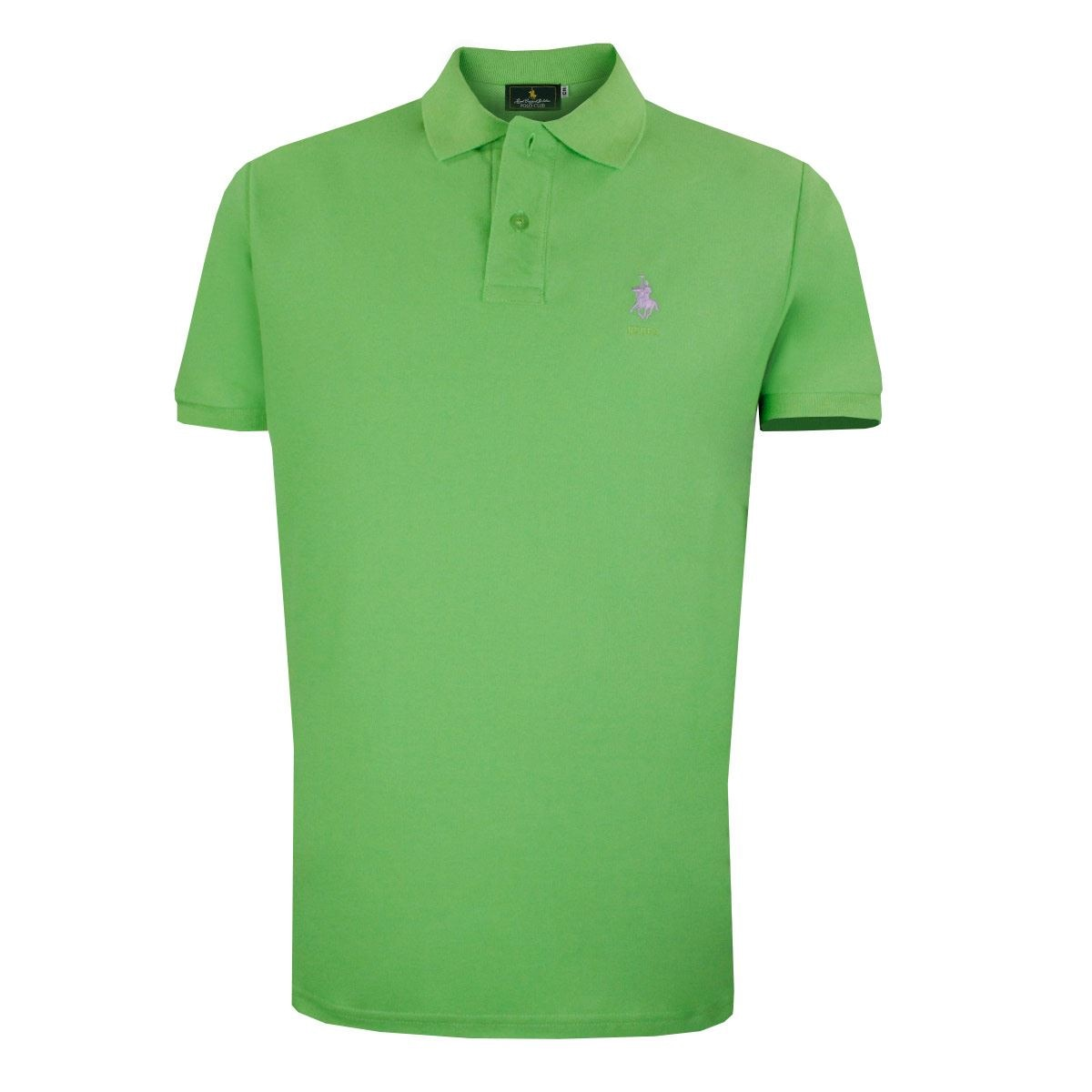 Playera Polo Club Mc Pique Algodón Gd Limón