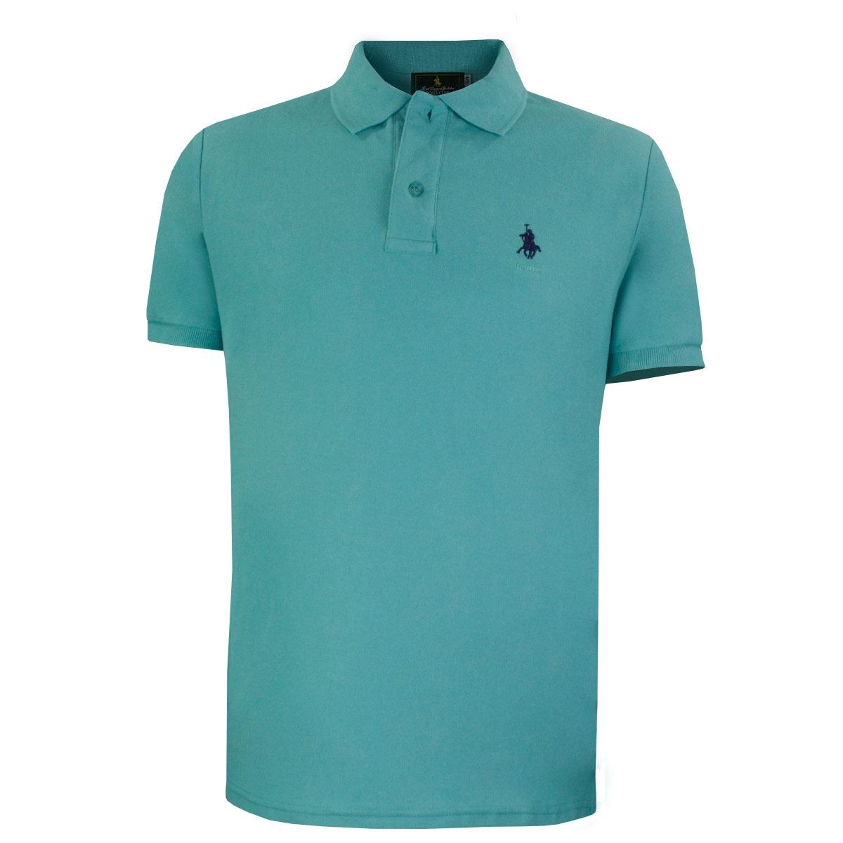 Playera Polo Club Mc Pique Algodón Md Aqua