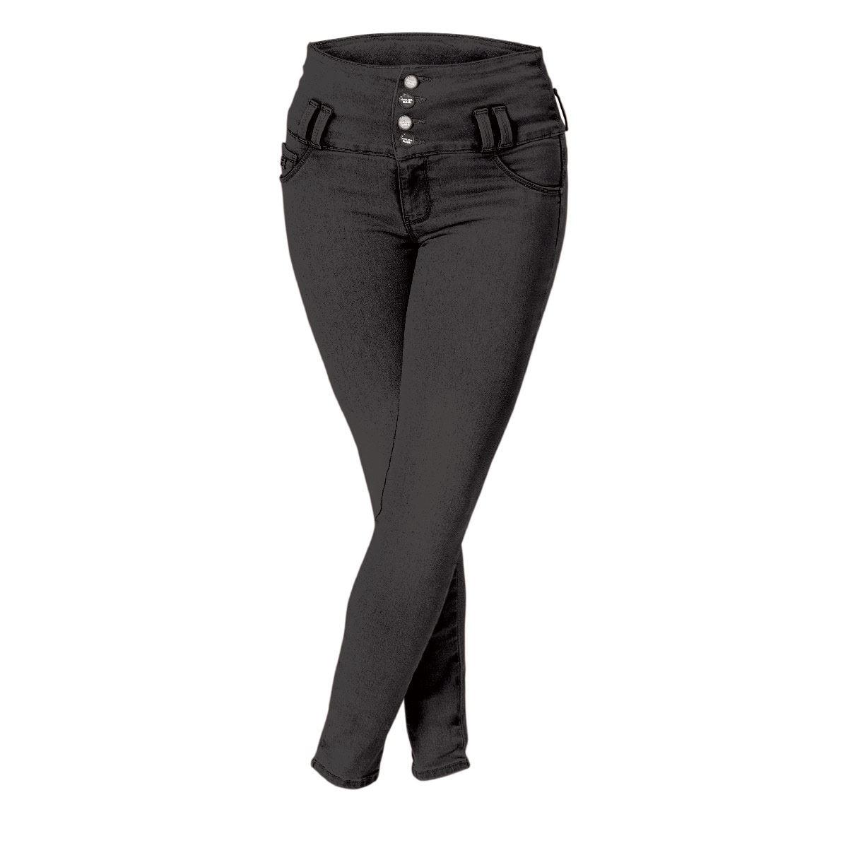 Jeans Moldeaores Tiro Alto Negro Comfy Jeans