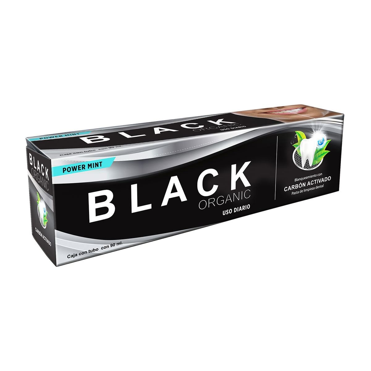 Pasta de limpieza dental black organic carbón activado  90 ml  - Sanborns