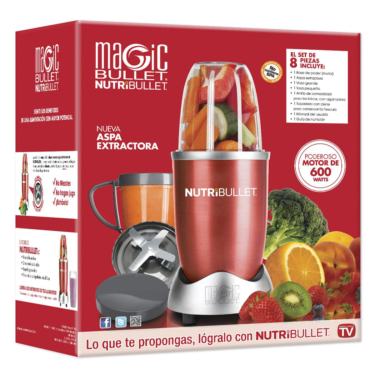 Extractor NutriBullet Rojo Magic Bullet