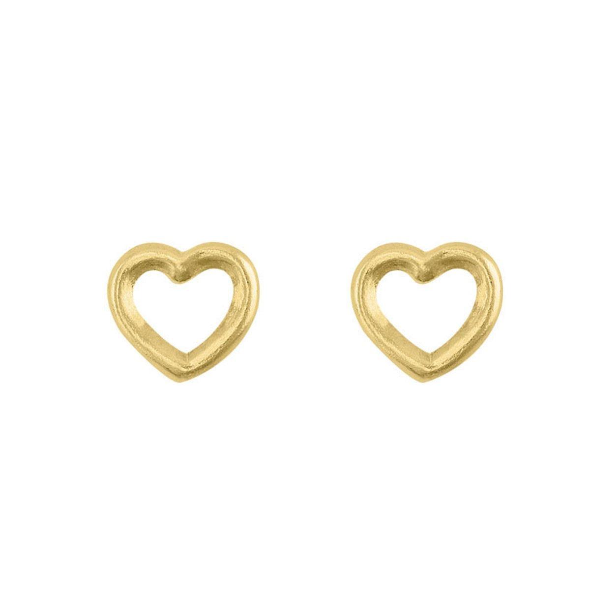 Silueta corazón de oro de 14 k