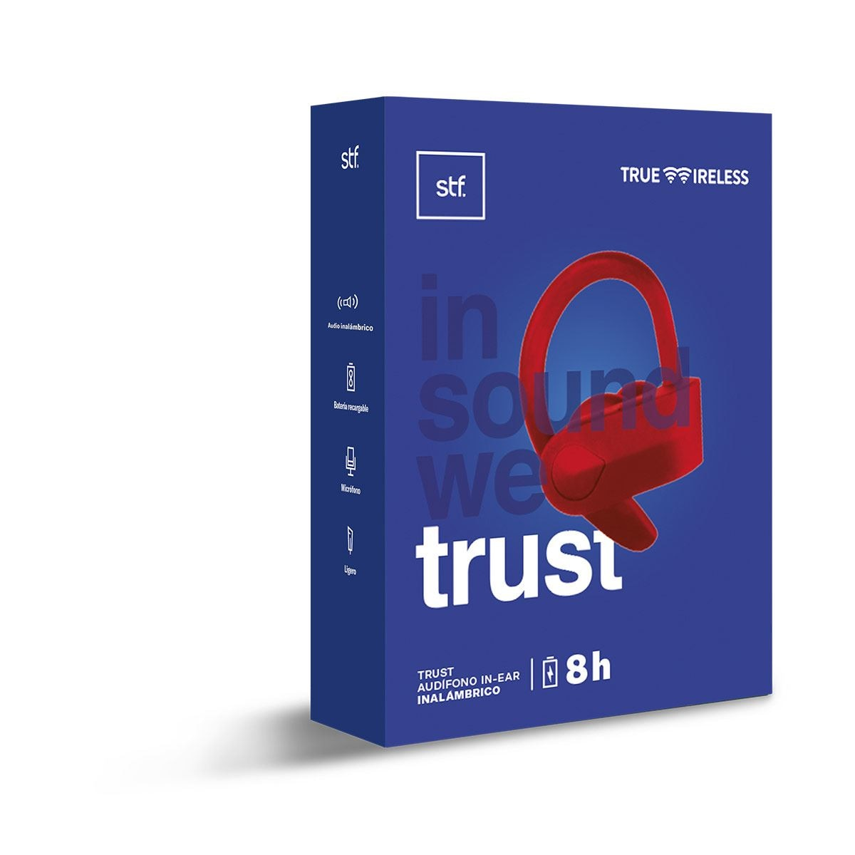 Audífonos Stuffactory Trust True Wireless Rojo