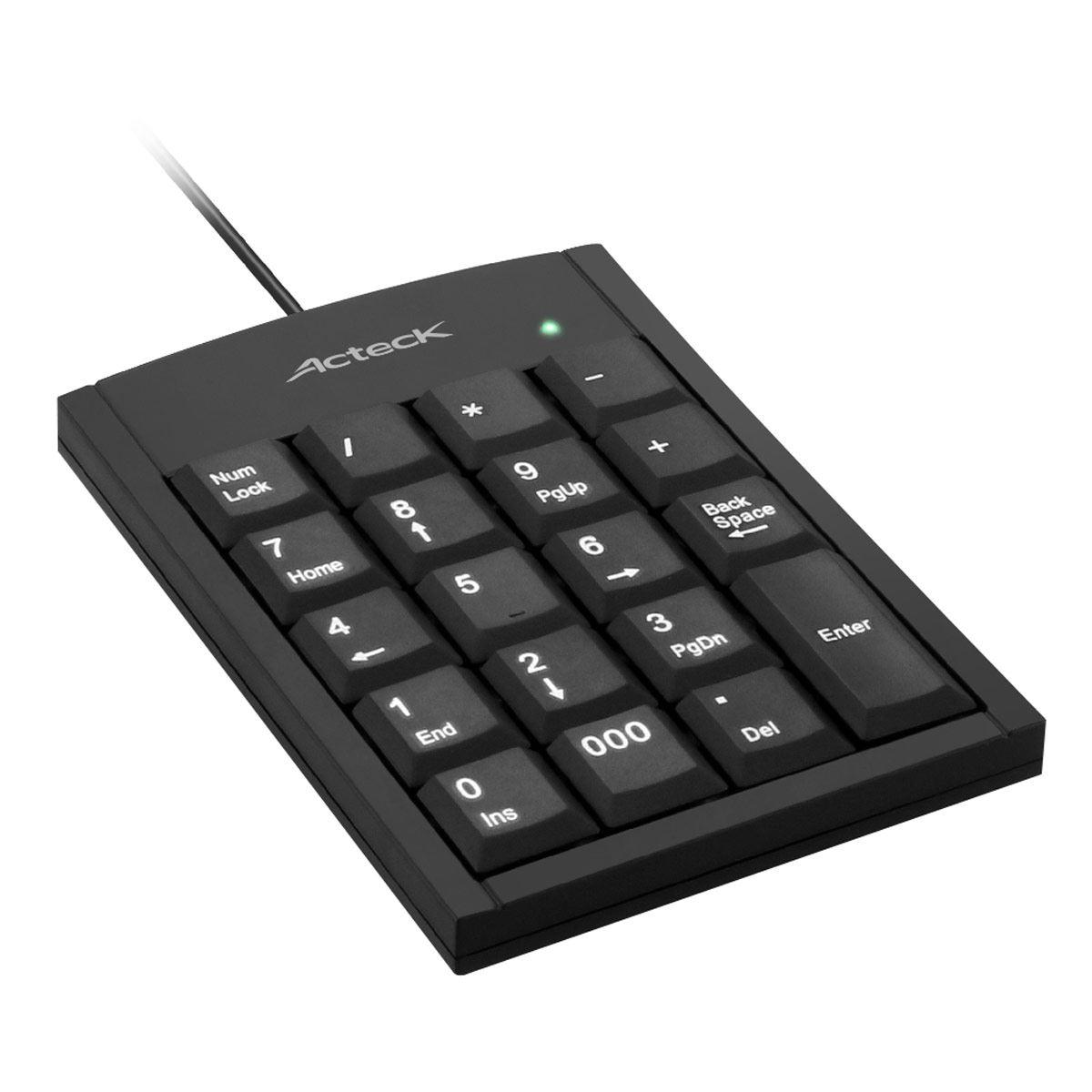 Teclado Numérico Alámbrico  USB Negro KN-350