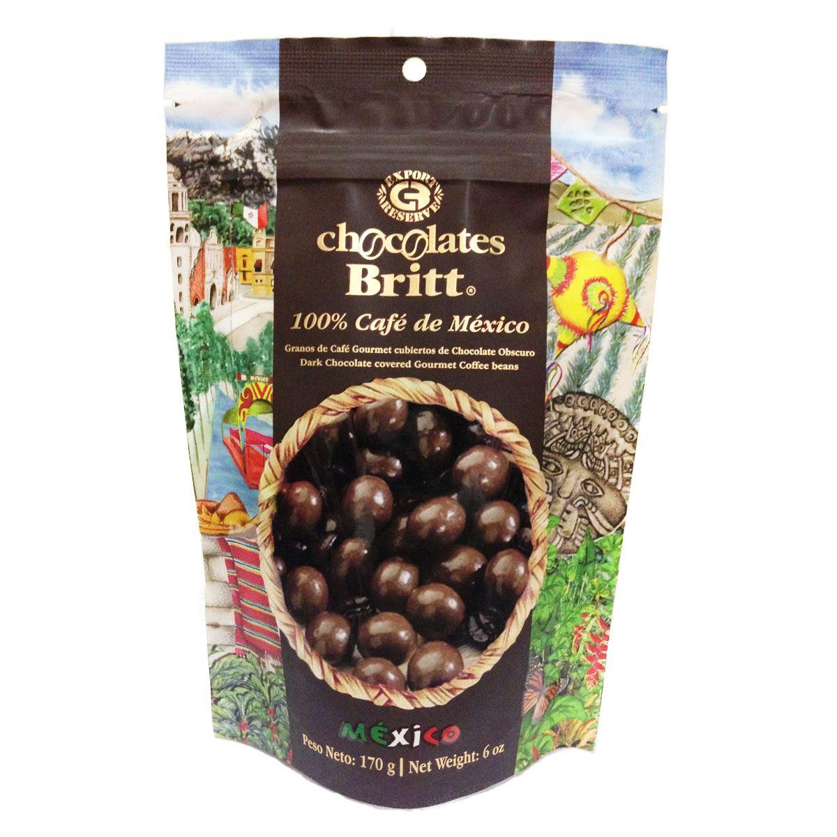 Granos de Café cubiertos de Chocolate Obscuro Chocolates Britt México 170g