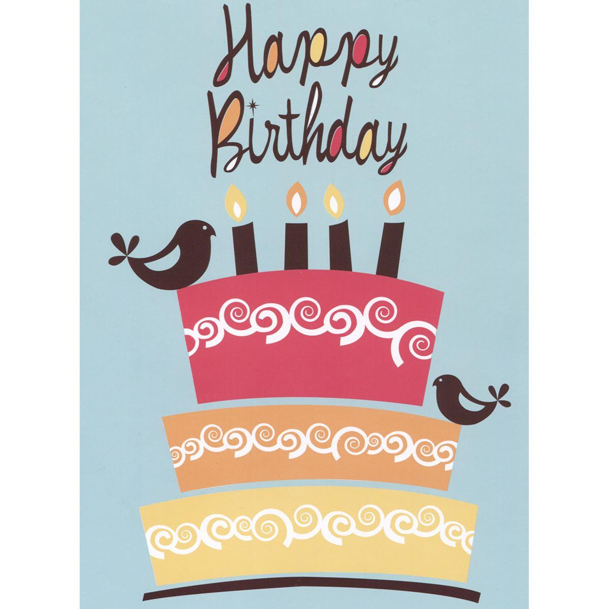 Tarjeta valentina happy birthday cake