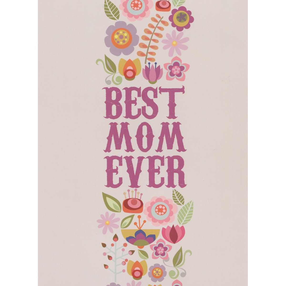 Tarjeta valemtina best mom ever Libro - Sanborns