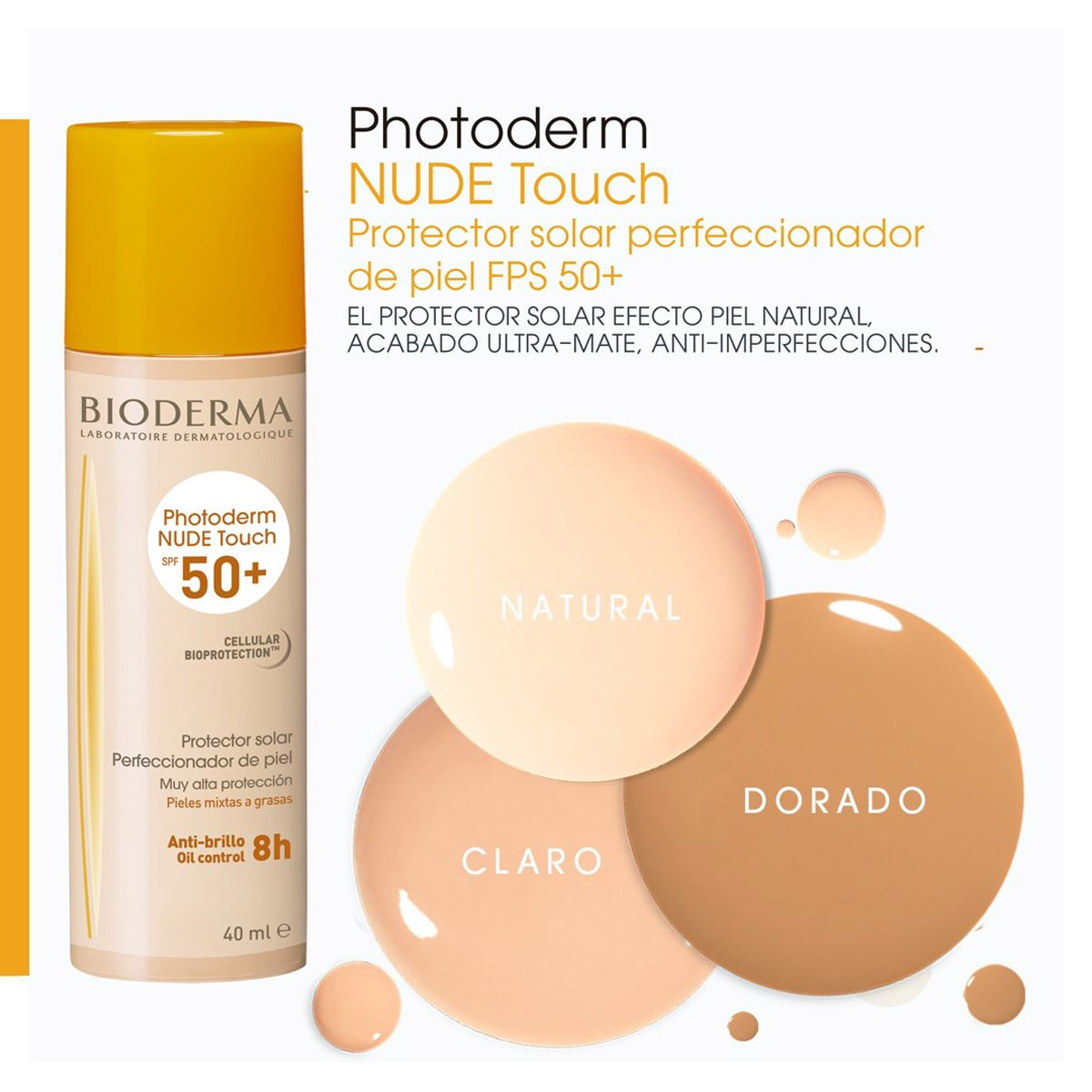 Kit photoderm nude touch natural spf 50+ y sébium gel 100 ml  - Sanborns