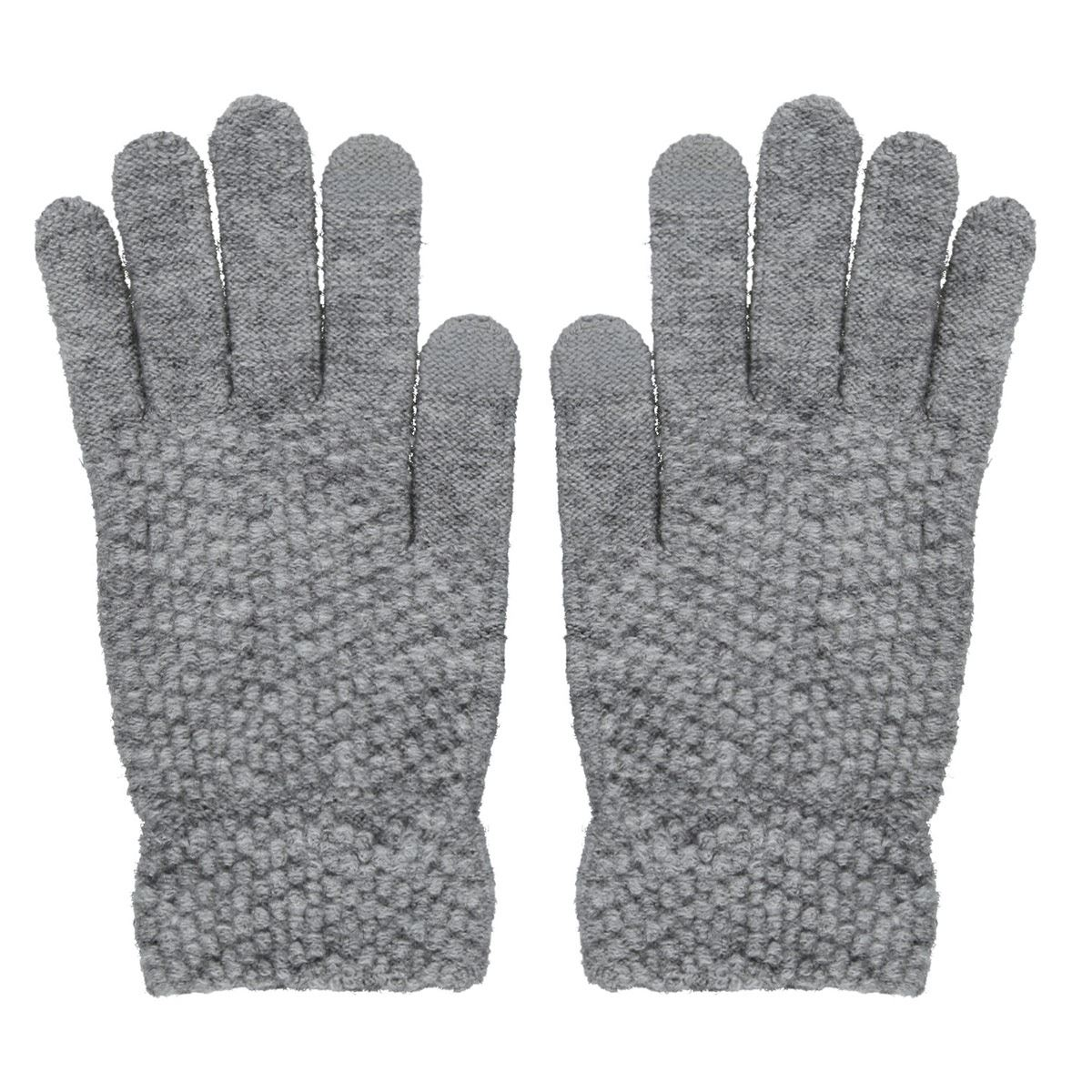 Guantes Tejidos Phi By Philosophy Jr. Gris obscuro