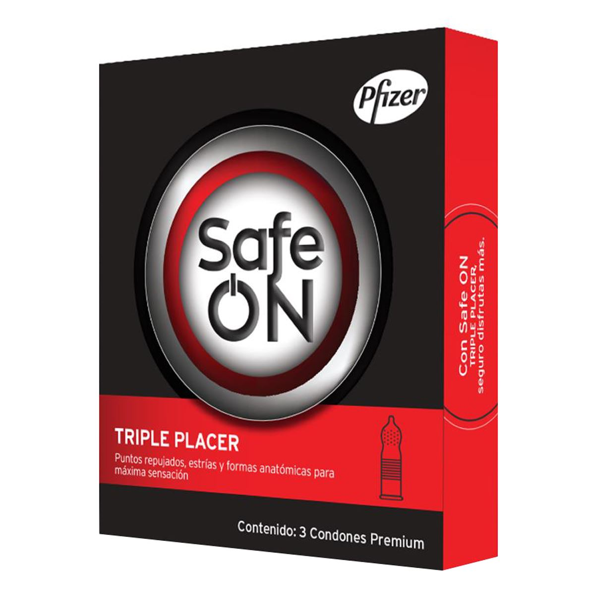 Preservativo triple placer con 3 piezas safe on  - Sanborns
