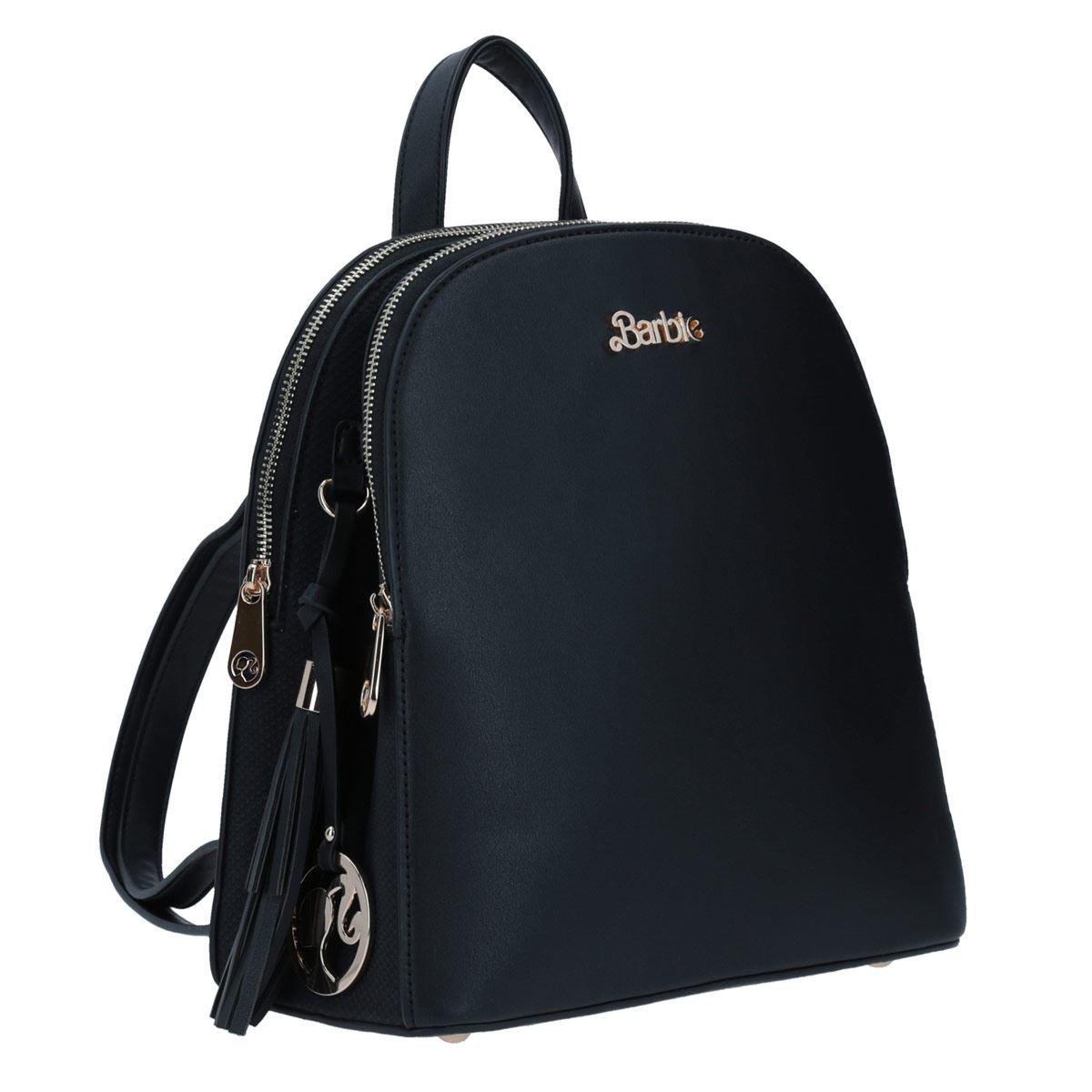 Mochila mediana Barbie x gorett backpack negro GS20259-3