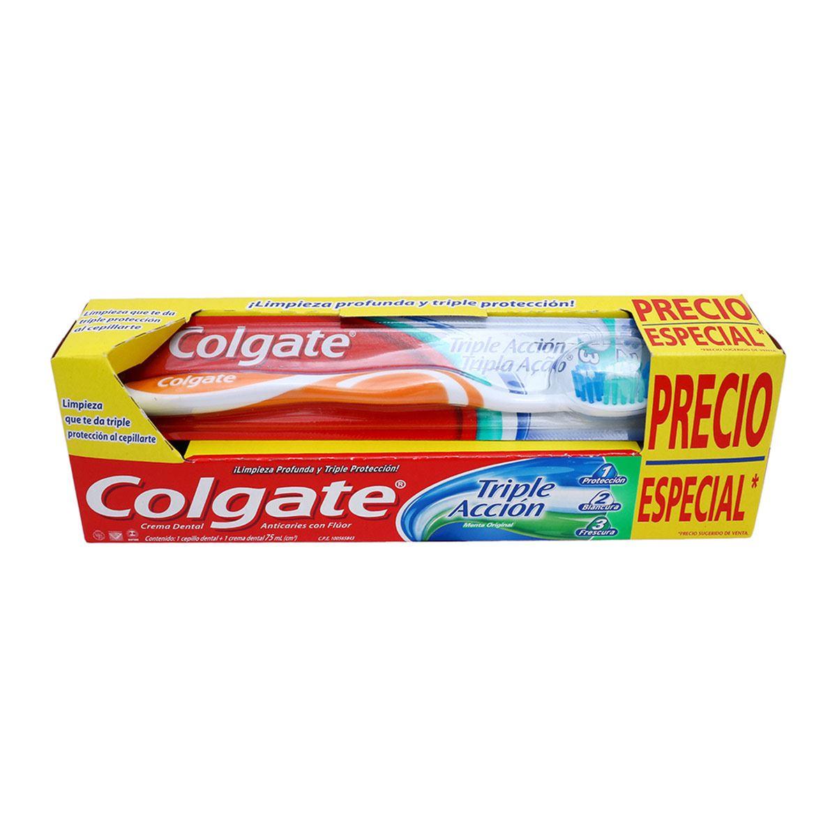 Cepillo Dental Colgate + Crema Denta Triple Acción