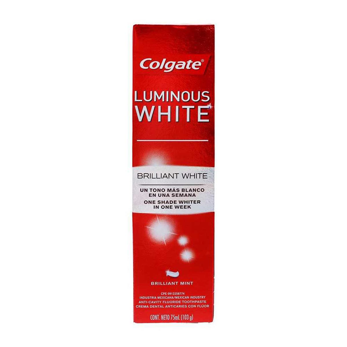 Crema dental Lunimous White 75ml  Colgate