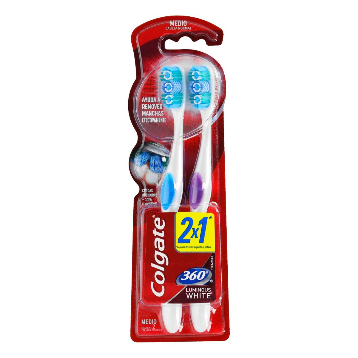 Cepillo Dental  Colgate Luminouswh 2 pz