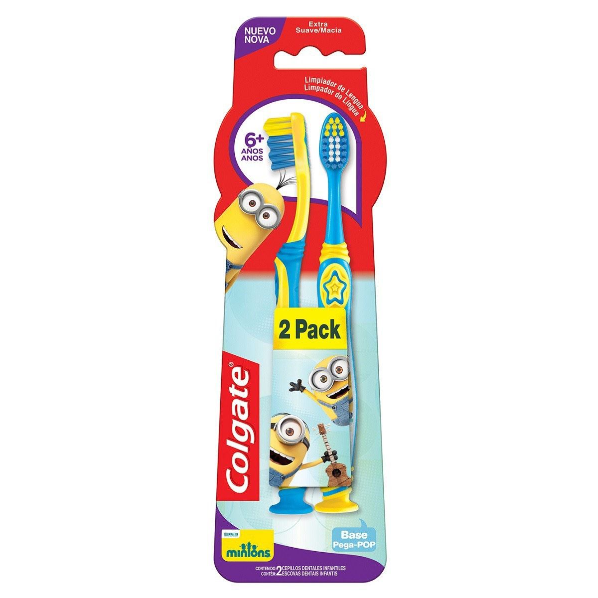 Cepillo Dental Colgate Minions 2 pz