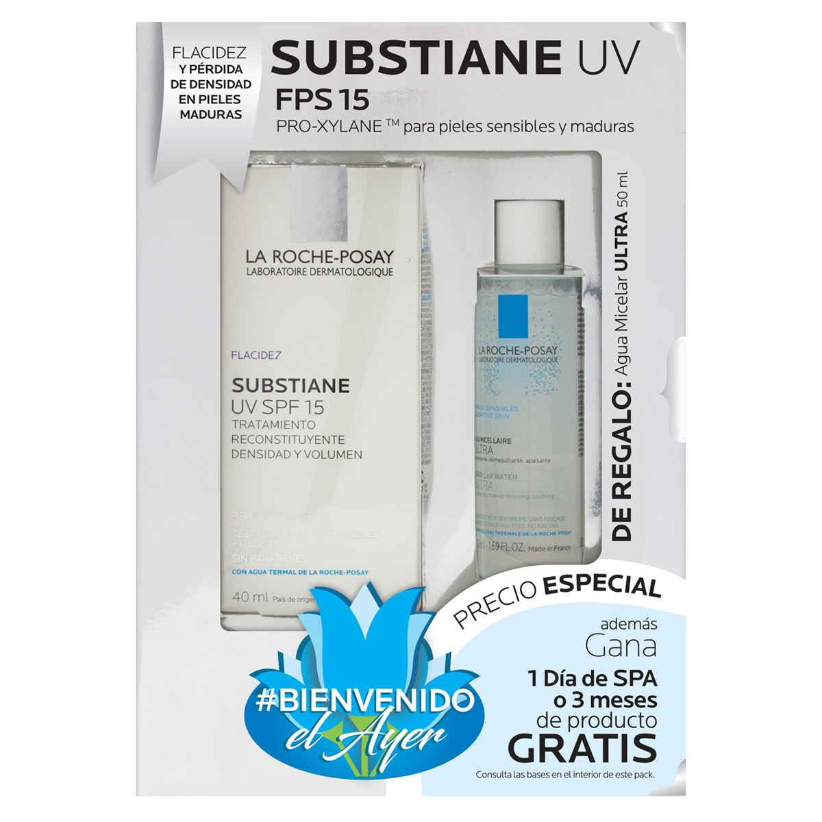 Pack substiane uv con fps 15 + agua micelar de 50 ml de regalo  - Sanborns