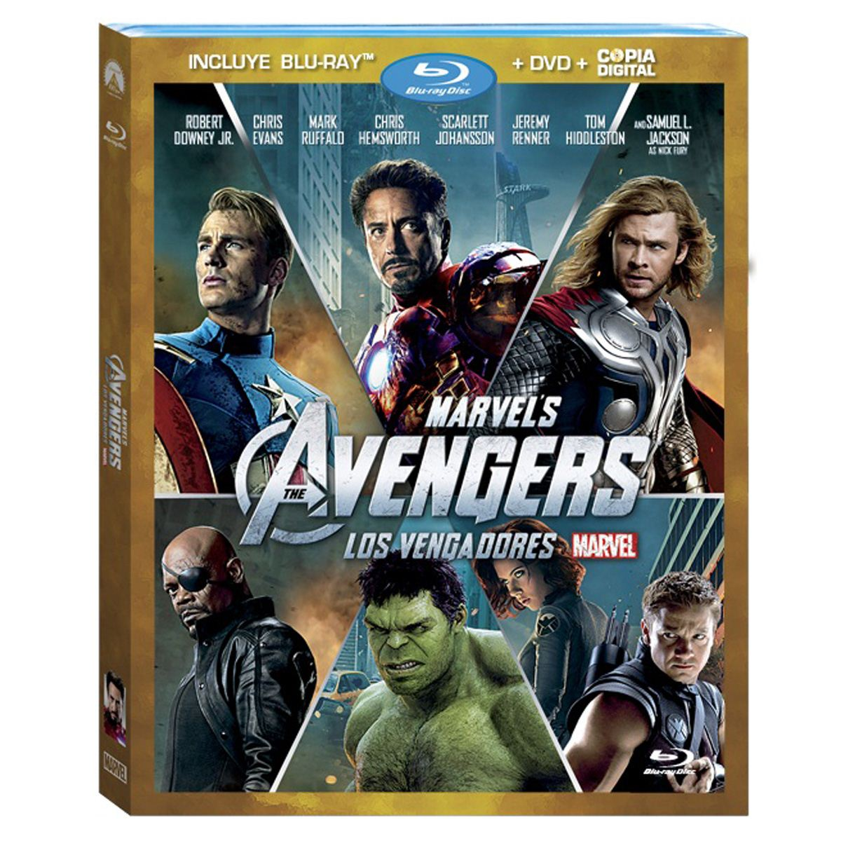 Br/dvd/copia digital los vengadores  - Sanborns