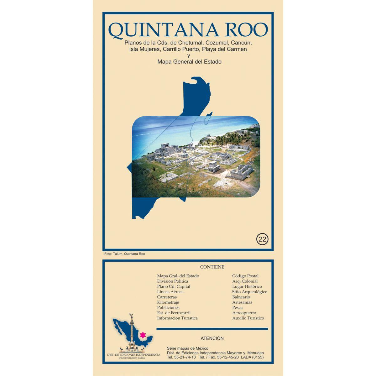 Mapa quintana roo Libro - Sanborns