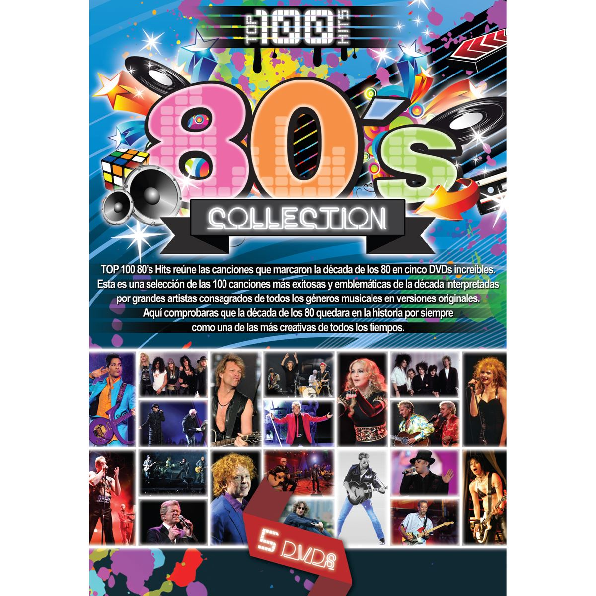 Dvd top 100 hits 80s collection  - Sanborns
