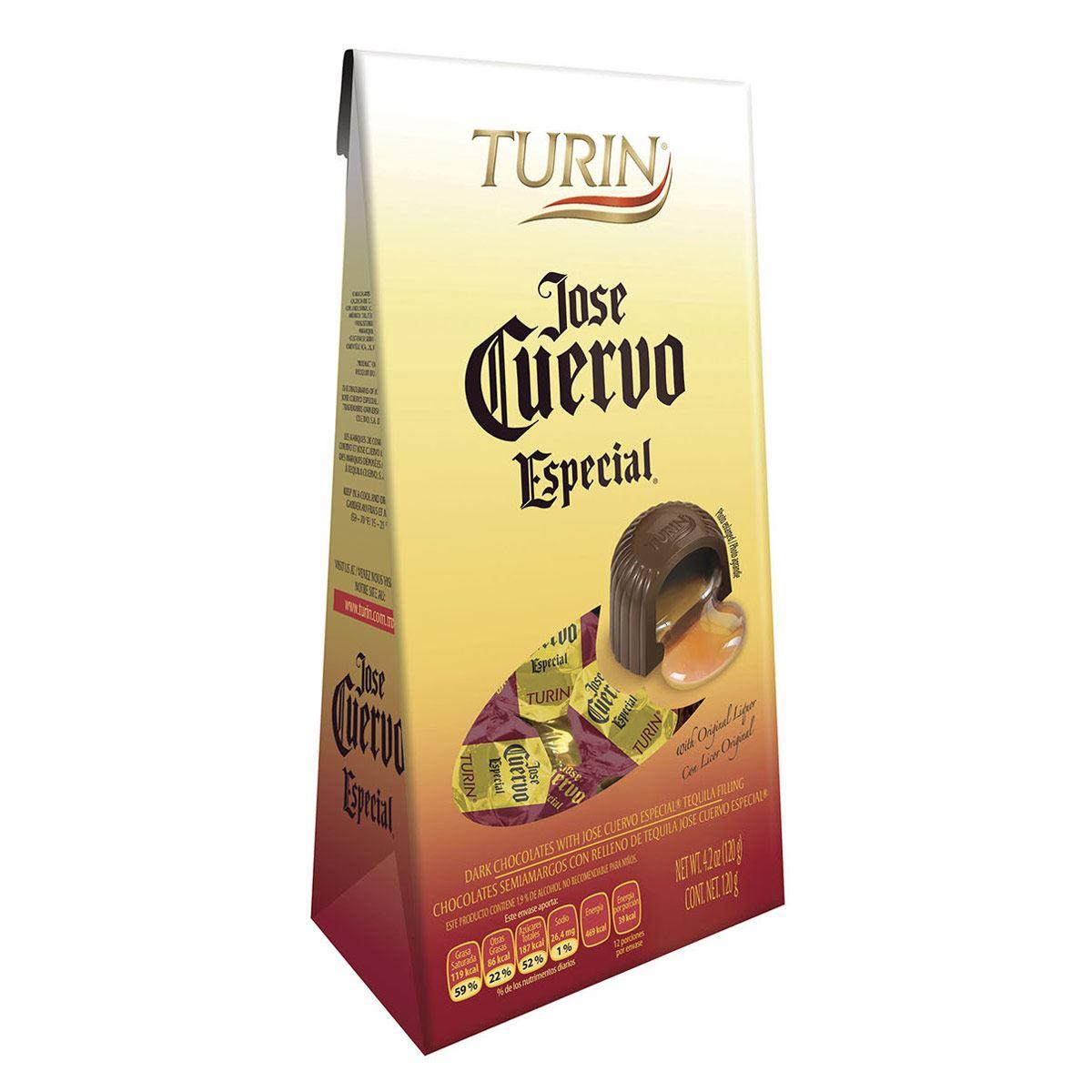 Bolsa de Chocolates rellenos de Tequila Jose Cuervo Especial Turin 120g