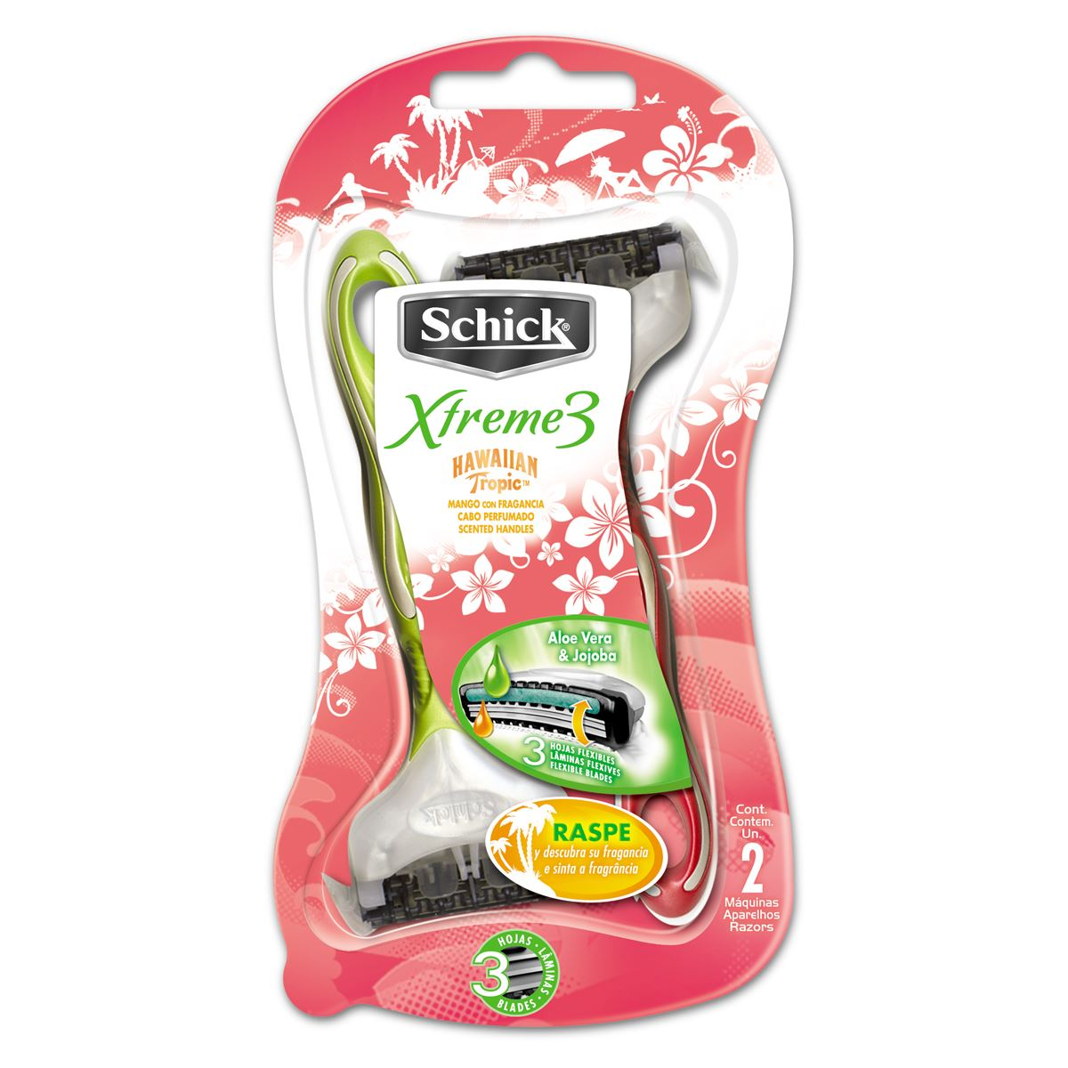 Schick xtreme3 bp2 hawaiian tropic  - Sanborns