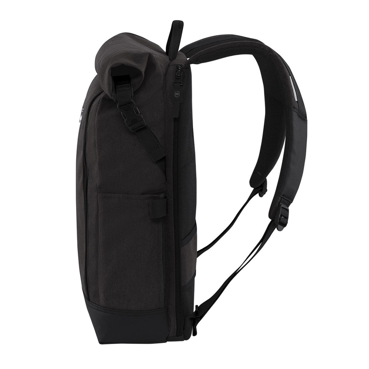 Backpack Negro Negro  Classic, Rolltop Laptop Backpack, Black