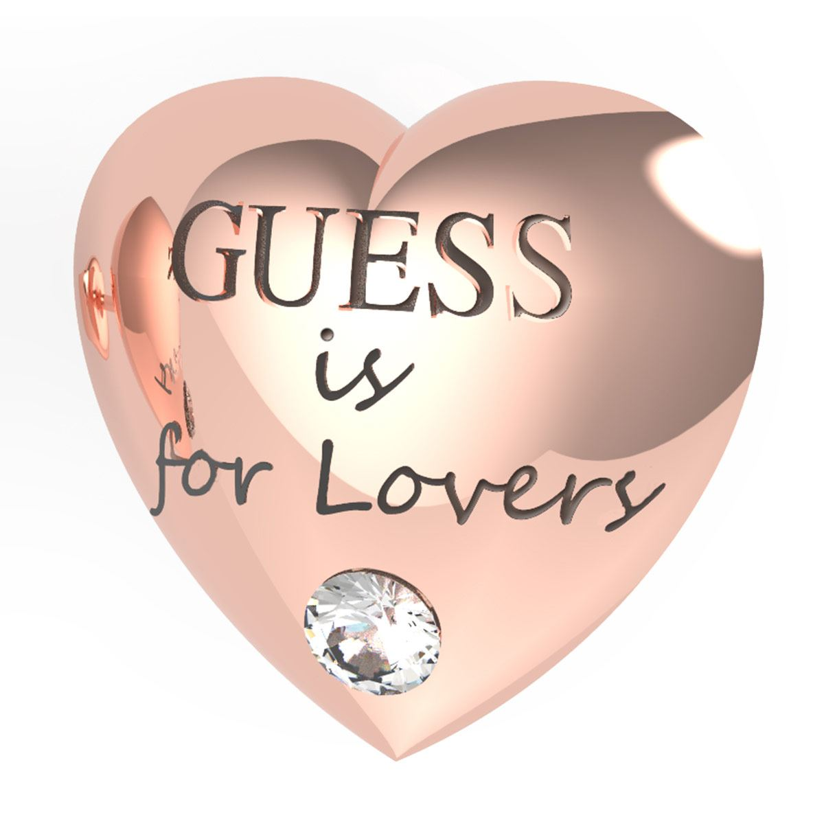 Aretes Guess Is For Lovers Color Oro Rosa
