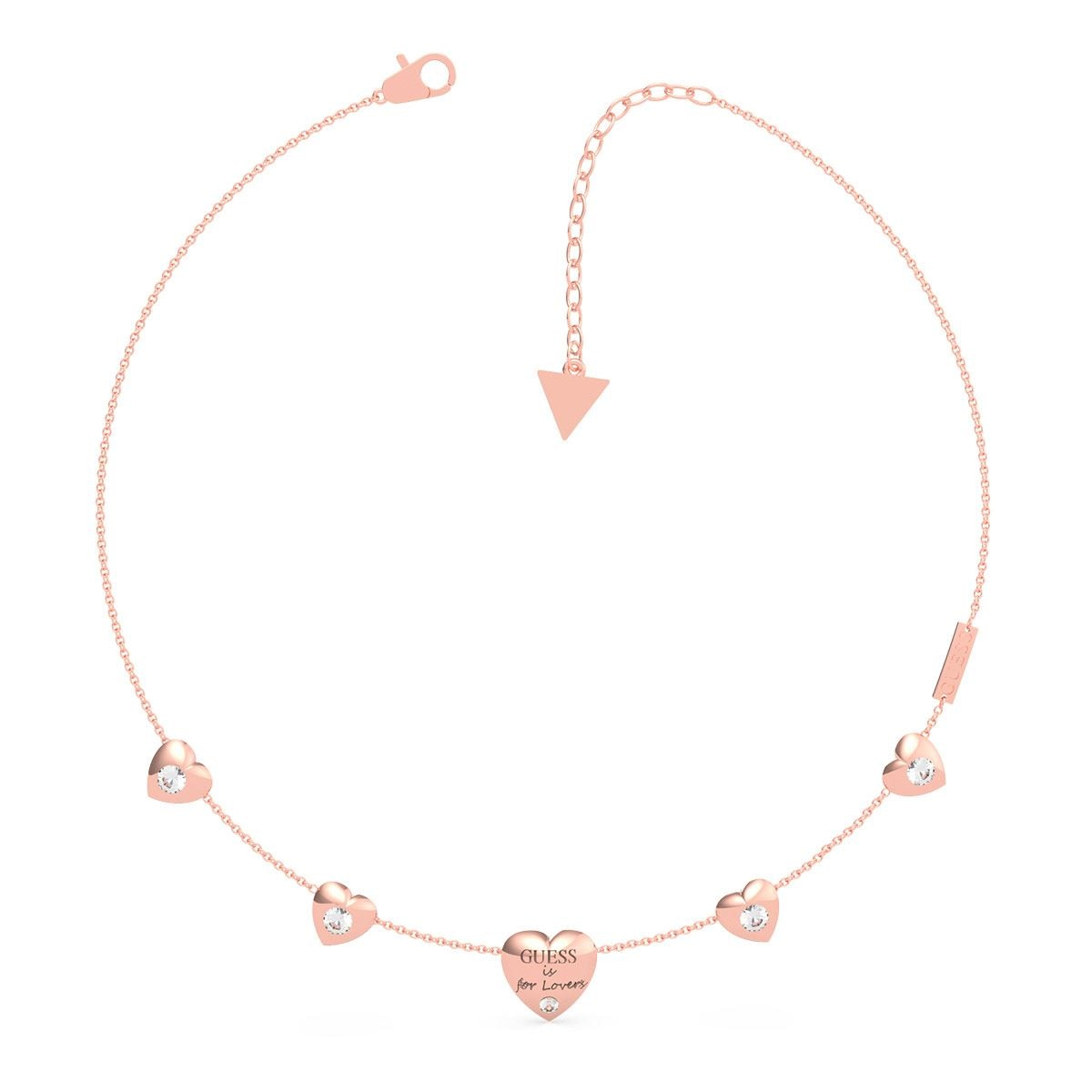 Collar Guess Is For Lovers Color Oro Rosa