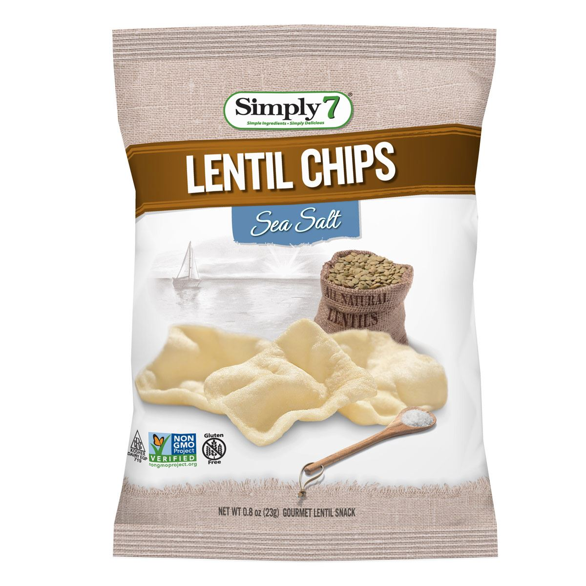 Papas Lentil Sea Salt 23 gramos Simply 7