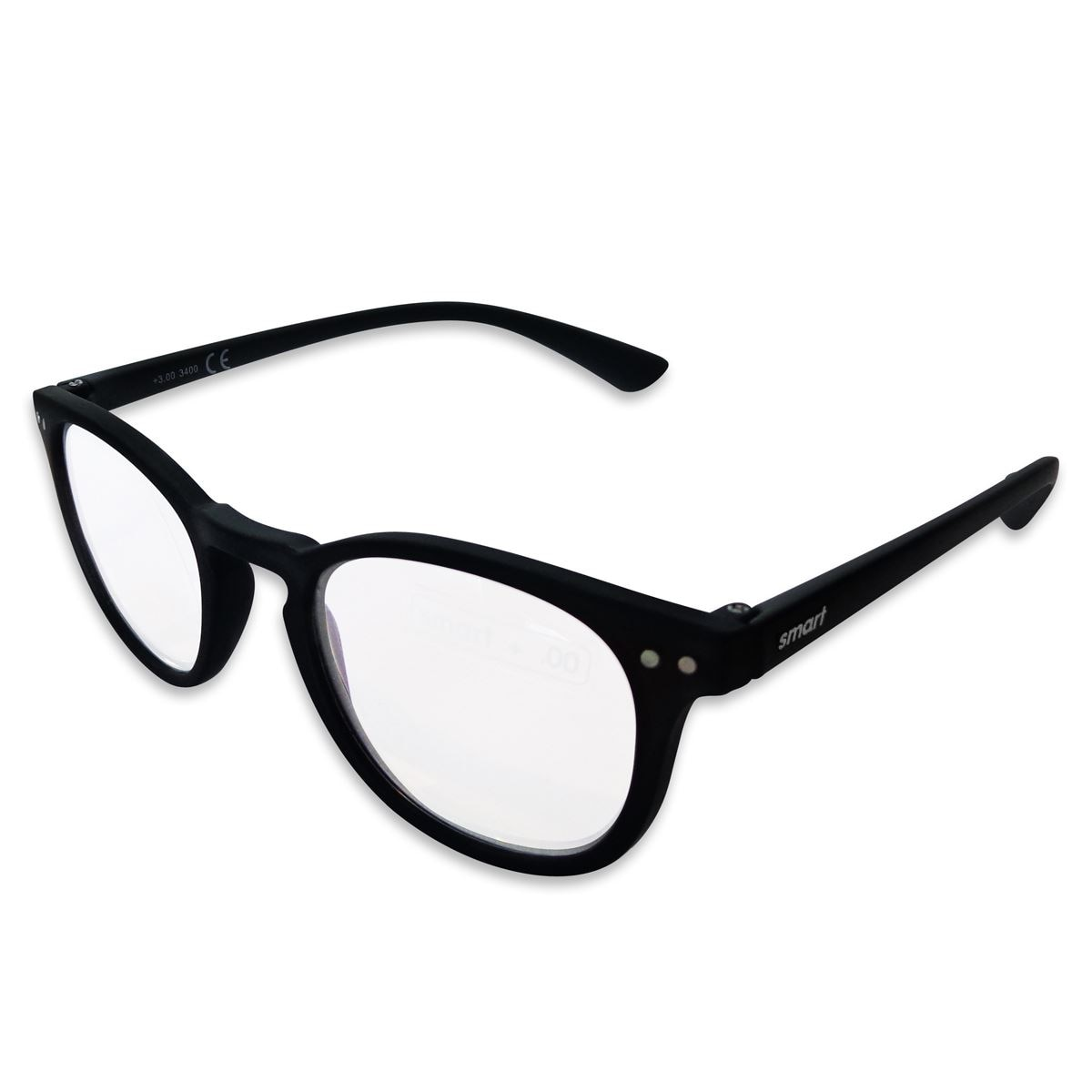 Lente pregraduado.smart Reader round matt black +1.50
