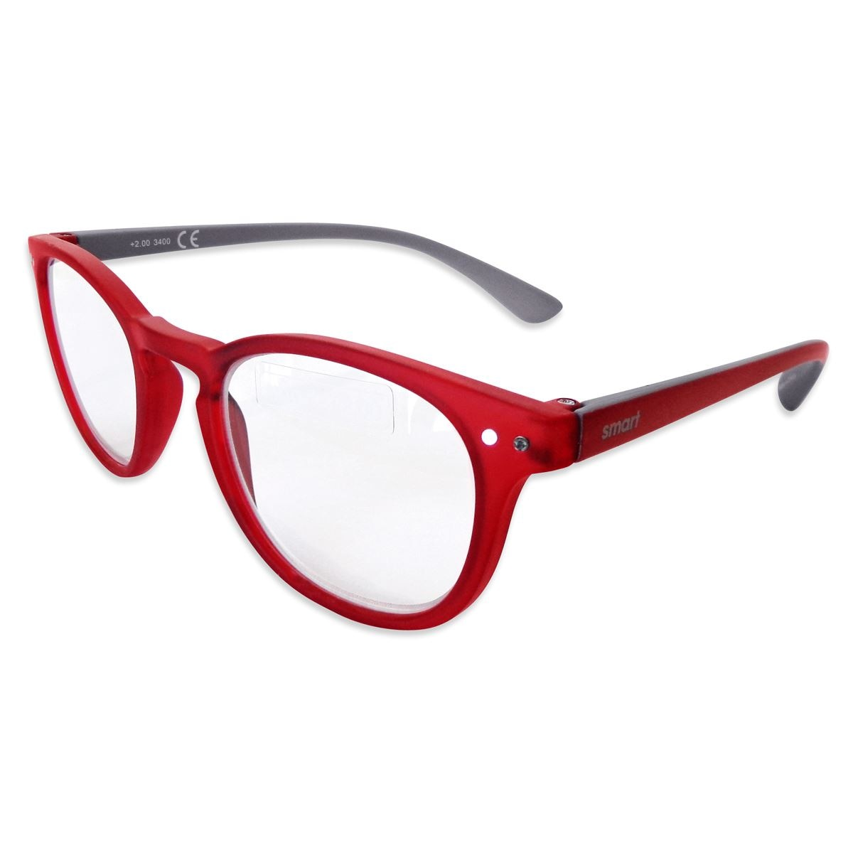 Lente pregraduado.smart reader round matt red +1.50  - Sanborns
