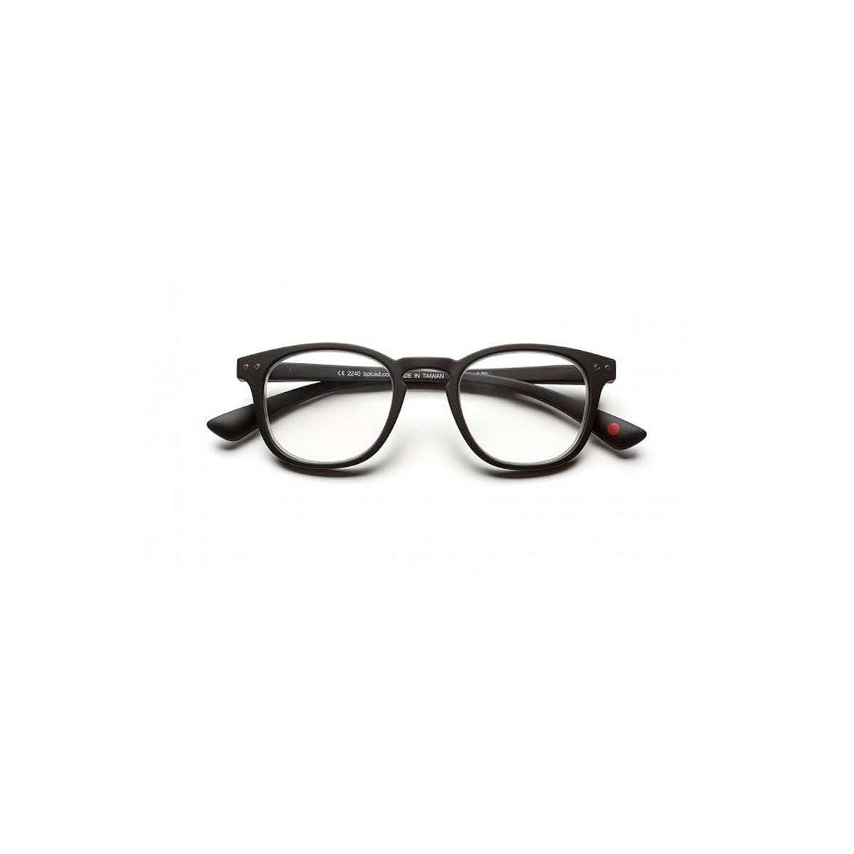 Lentes pre graduados DOT reader matt black  +2.50