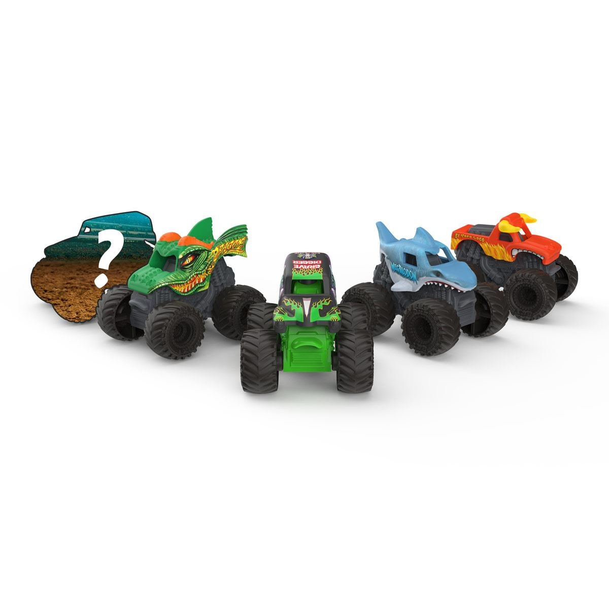 5 Pack Monster Jam Mini Spin Master 6061232