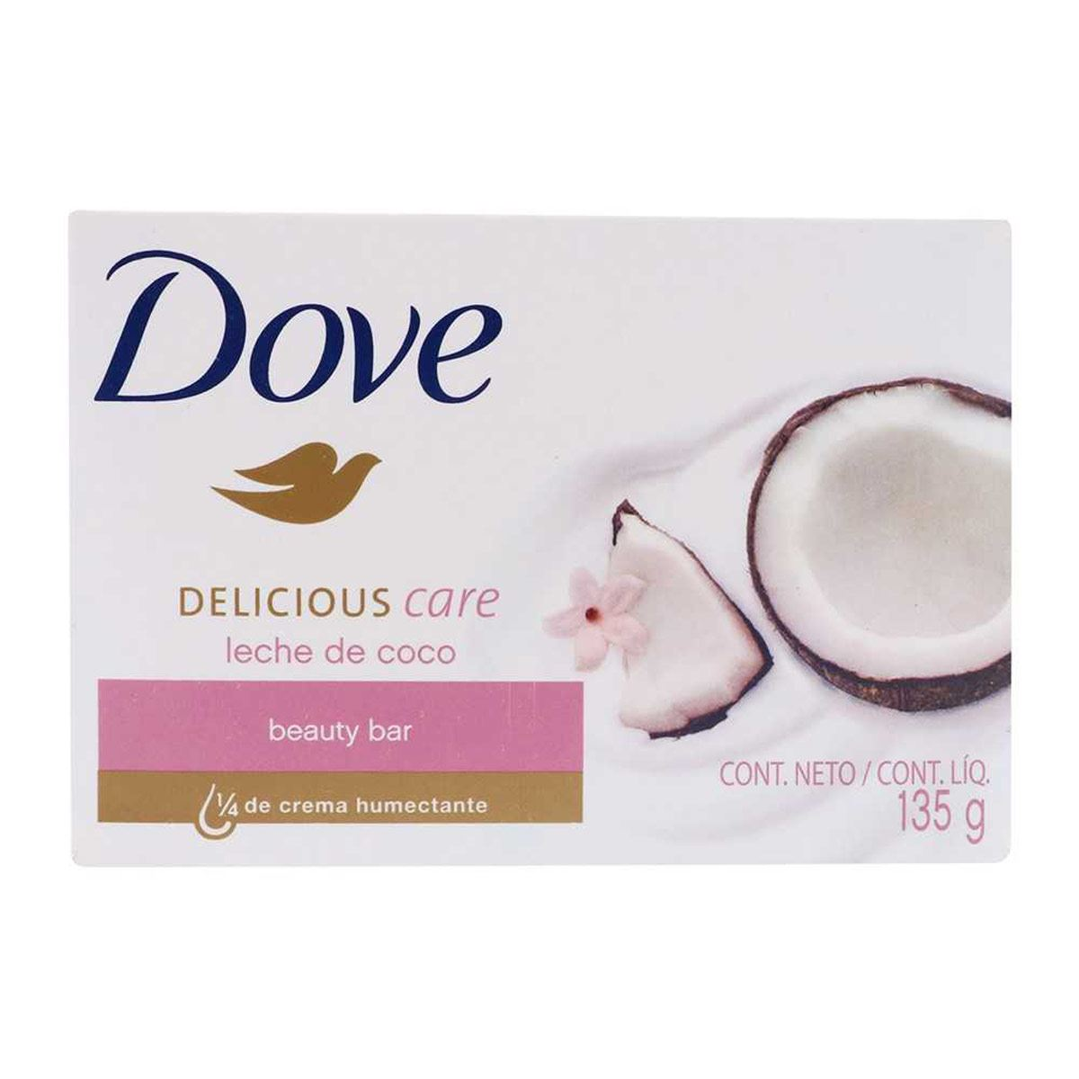 Jabón Dove Delicious Care Leche de Coco 135 Gr