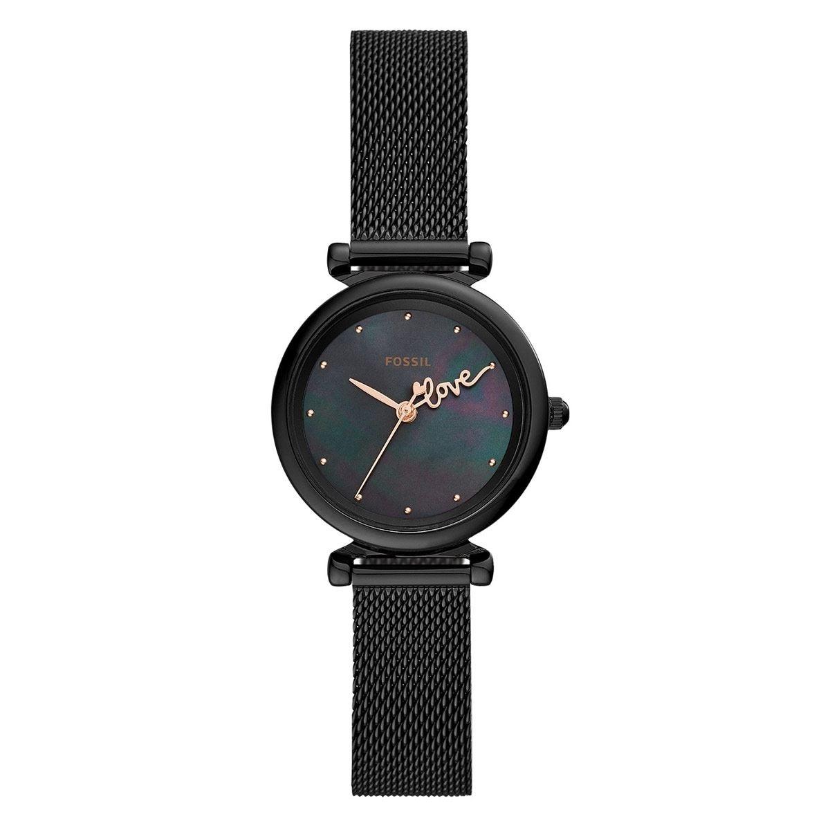 Reloj Fossil Carlie Mini Negro ES4829 Para Dama