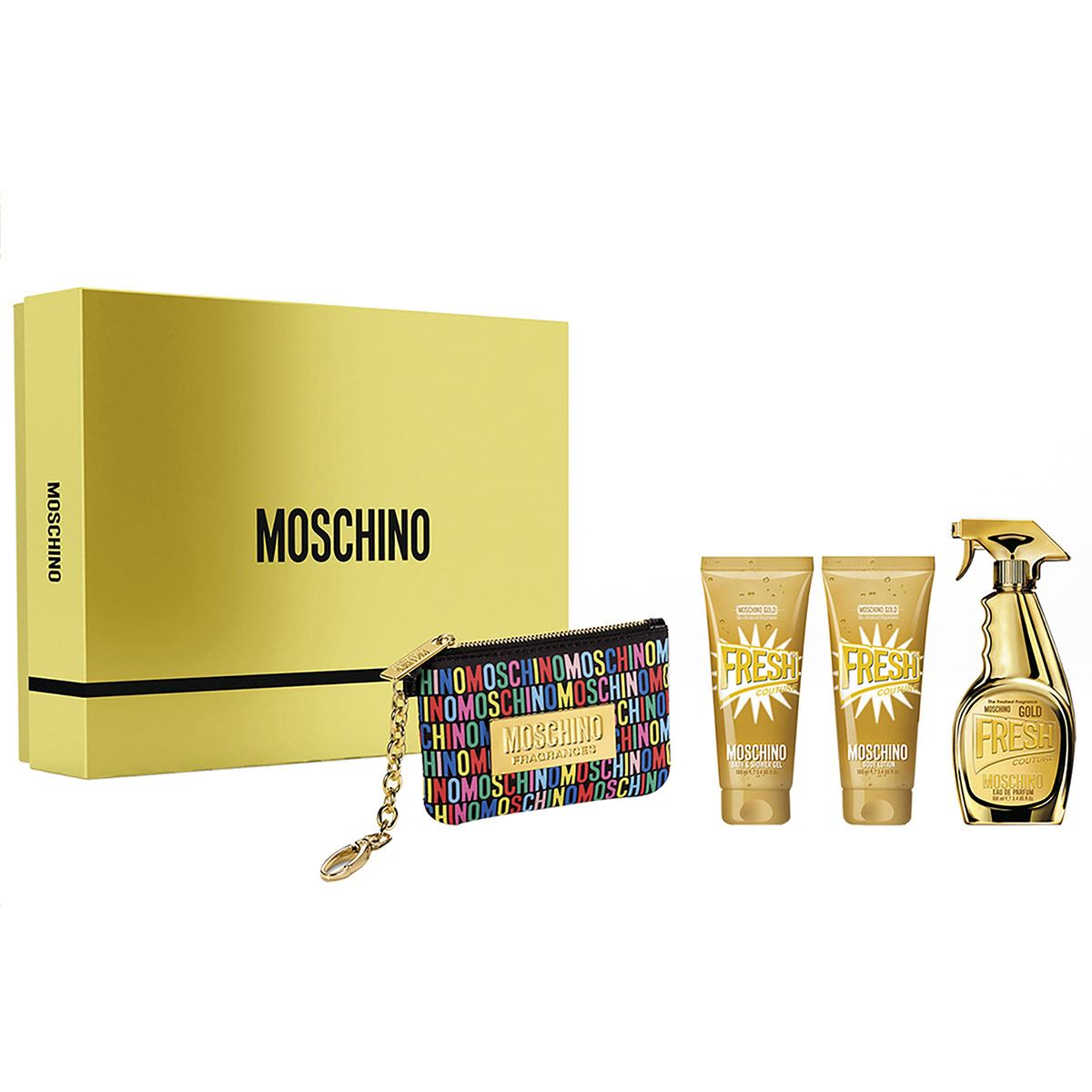 Fragancia Dama, Set Navidad Moschino Gold Fresh EDP 100 ML