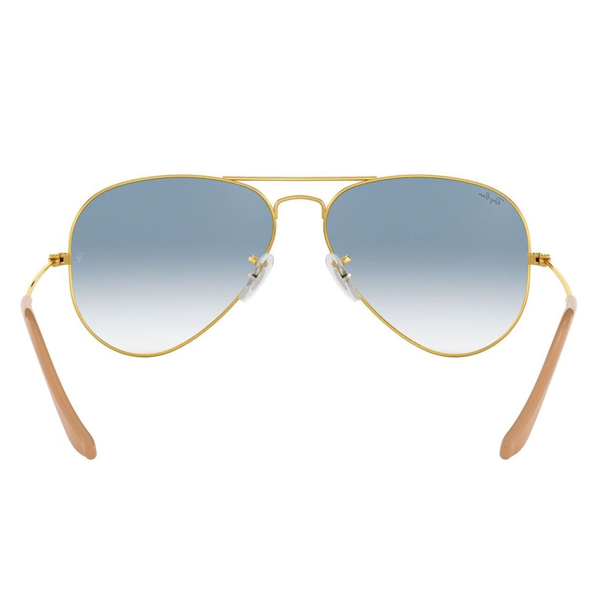 Lente solar Ray Ban Aviator Large Metal Azul Degradado Armazón en Metal