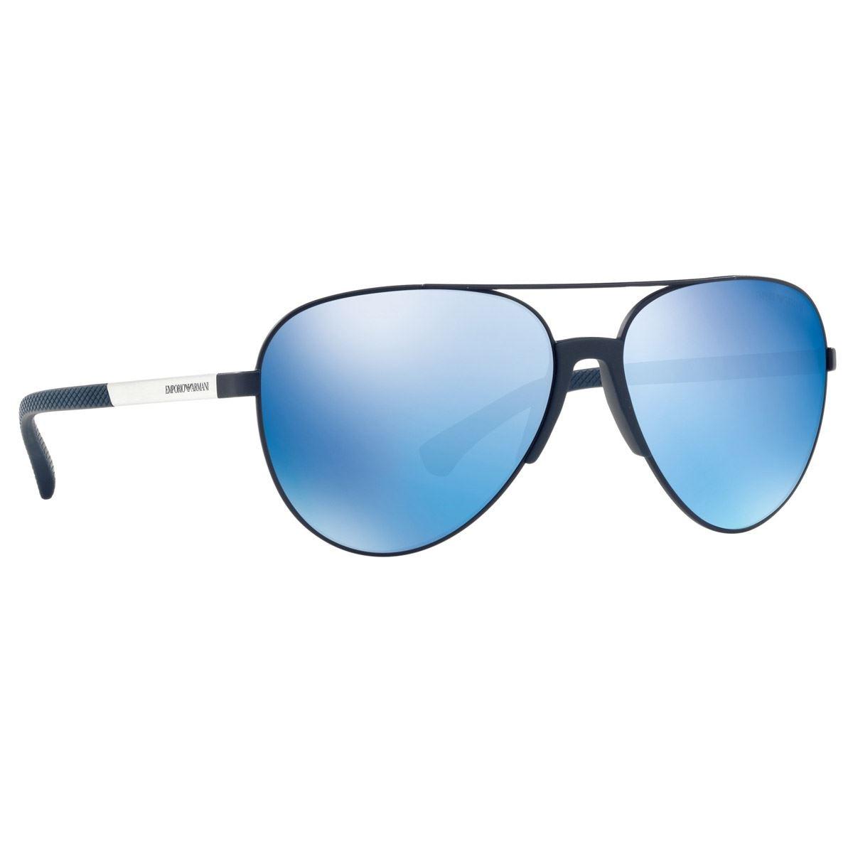 Emporio armani azul espejado armazón azul  - Sanborns