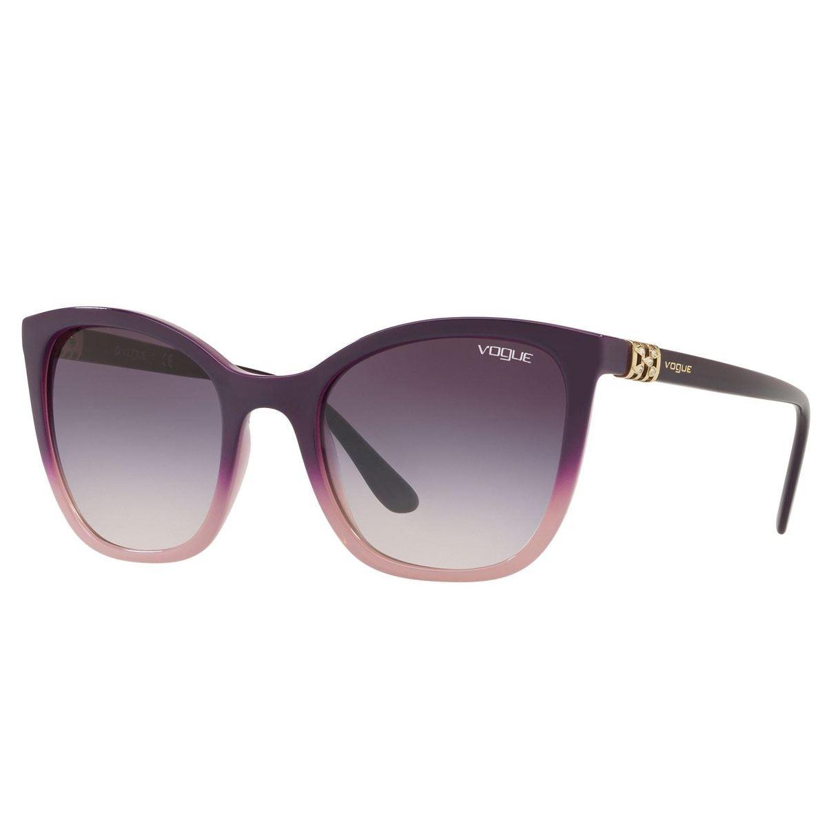 e416efe770 Lente de sol Vogue rosa-gris con armazón violeta-rosa