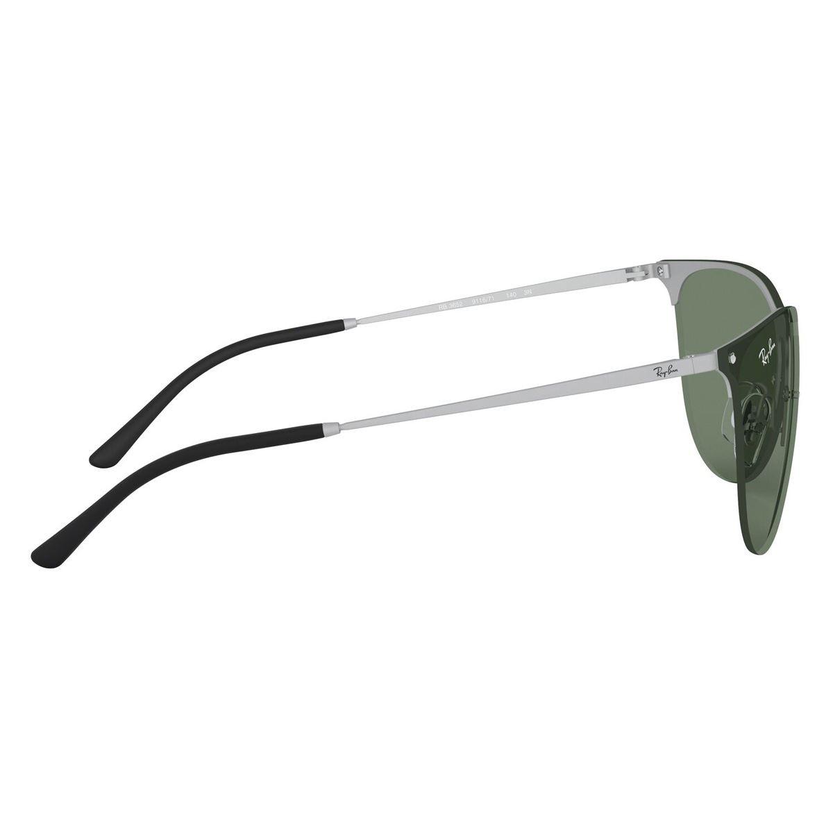 Lentes Solares Ray-Ban Armazón de Metal Plata-Verde
