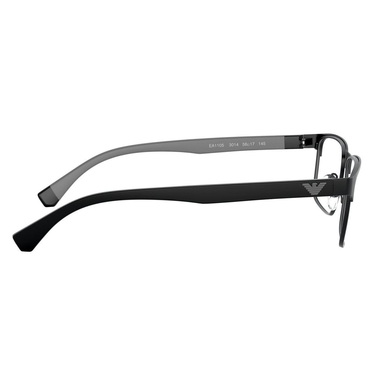 Armazón Emporio Armani en metal negro-gris
