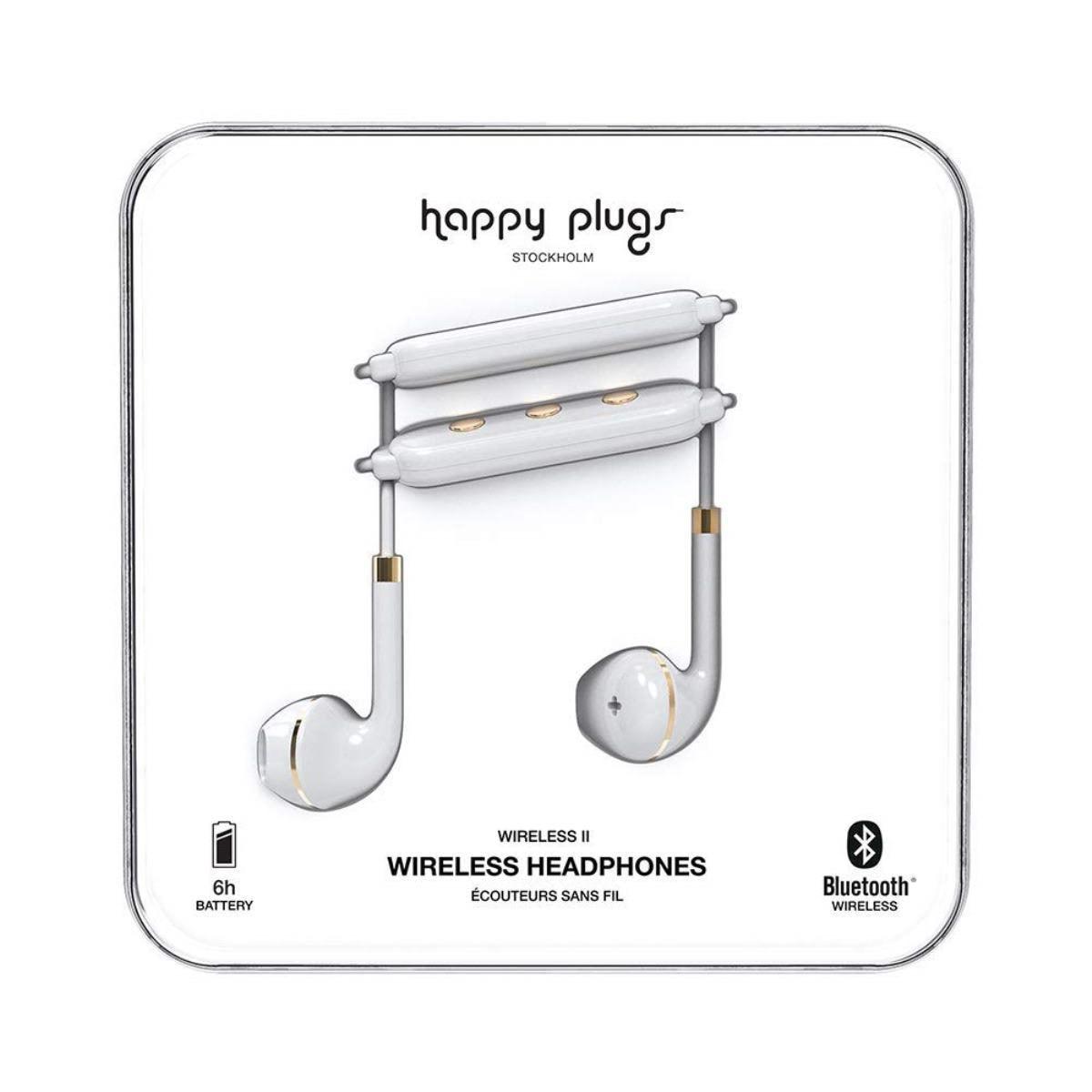 Audífonos Happy Plugs Wireless II Blanco/Dorado