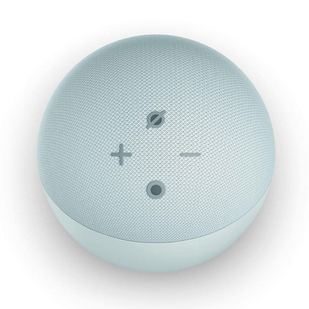 Bocina Echo Dot  (4ta Generación) con Alexa y Reloj Digital Blanco