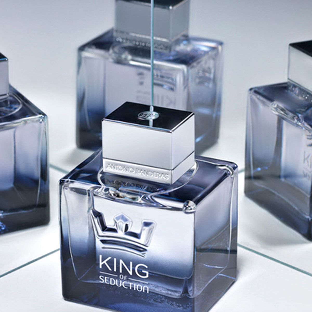 Set para caballero, Antonio Banderas, King of seduction, EDT 100ML + DESODORANTE 150ML