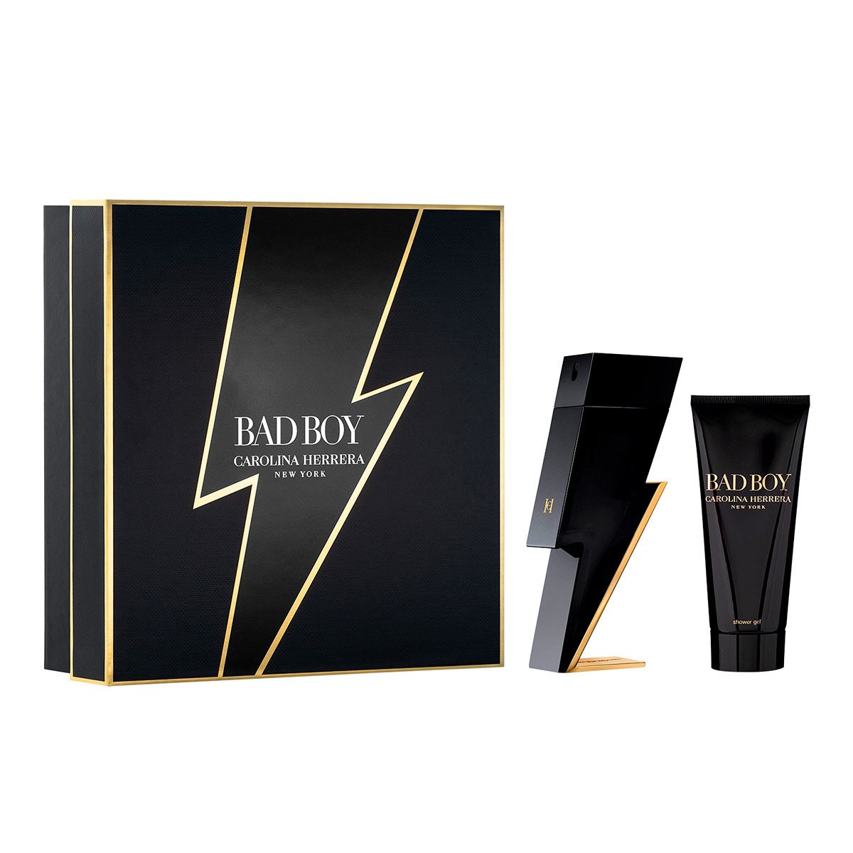 Set Para Caballero Carolina Herrera, Ch Bad Boy EDT 100ml + Shower Gel 50ml