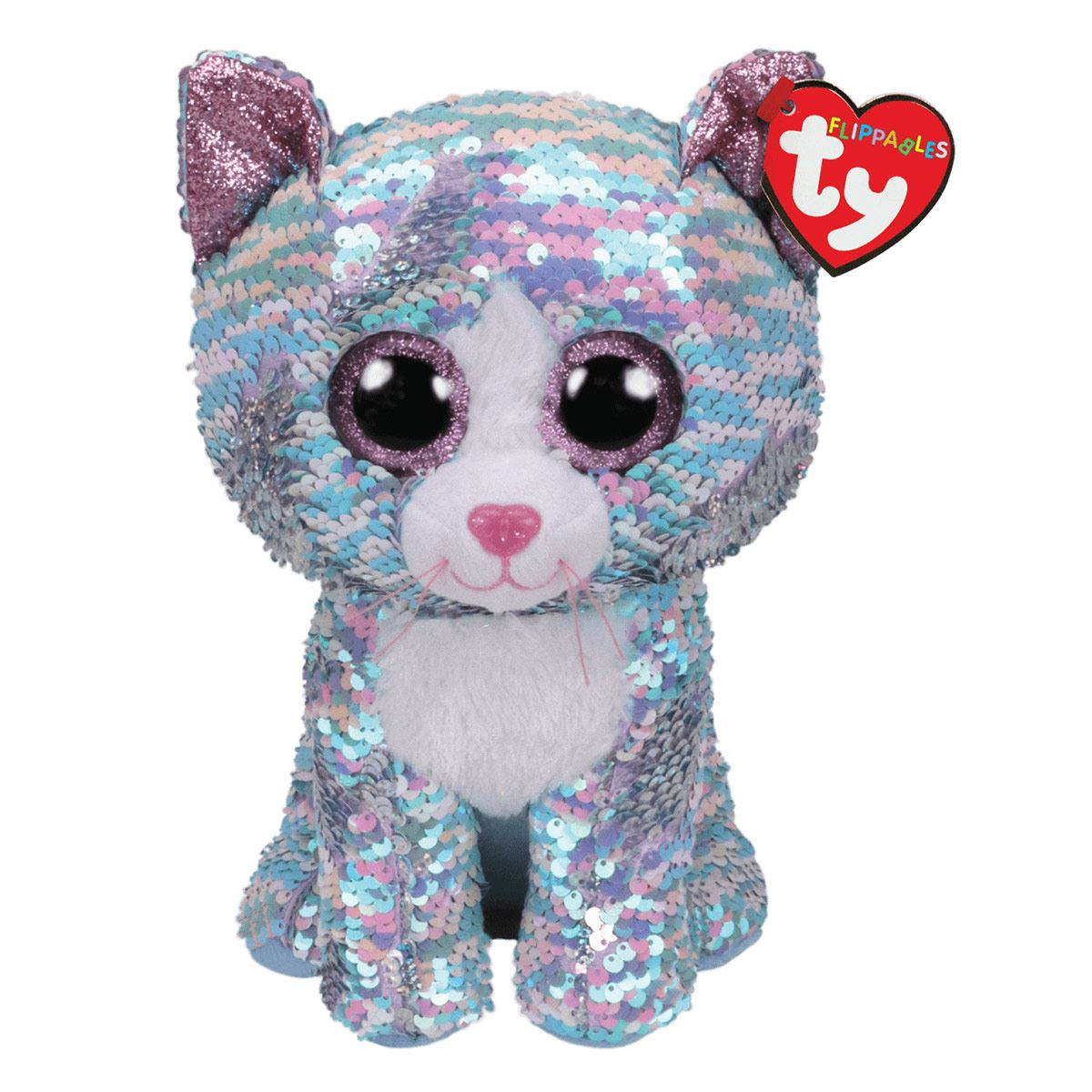 Peluche Whinsy - Sequin Blue Iridescent Cat TY