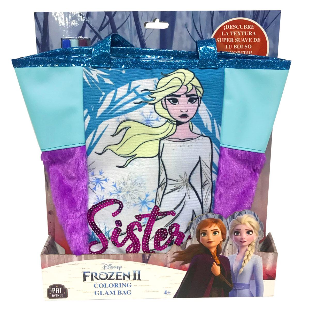 Bolsa Fashionista para Colorear Frozen 2