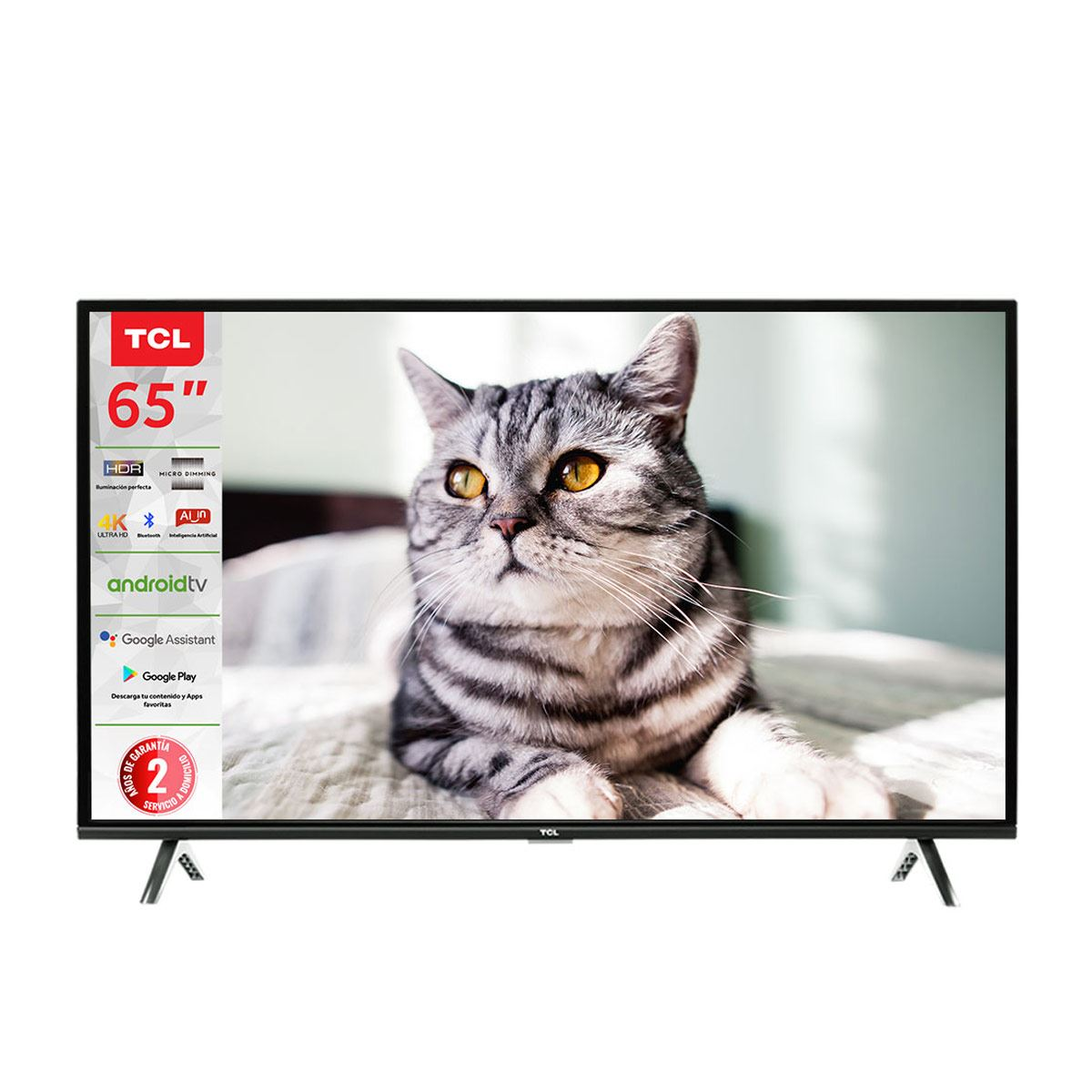 "Pantalla TCL 65"" 4K/UHD Smart TV 65A423 (ANDROID TV)"